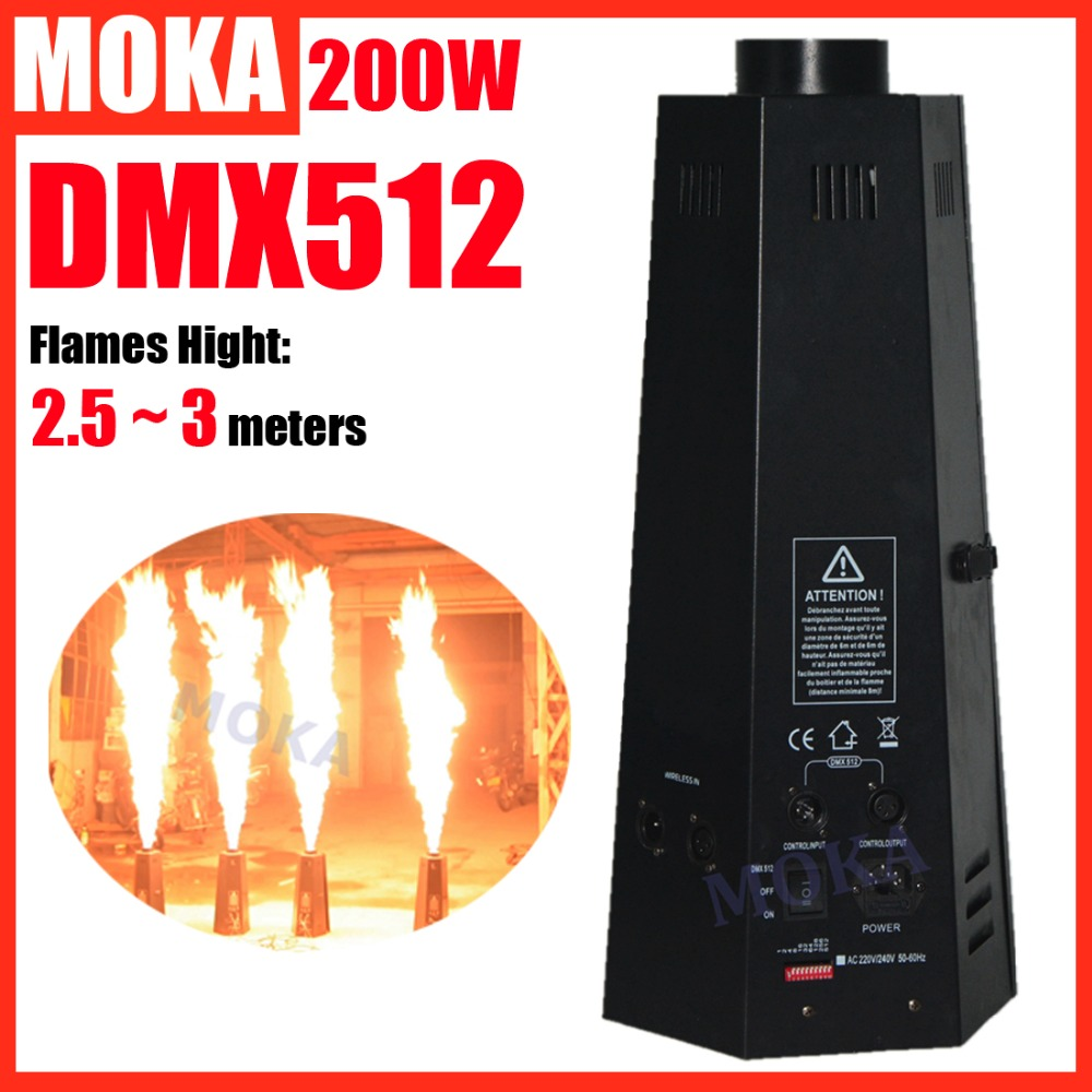 200W Six Corner Flame Machine DMX Fire Machine Stage Effect Equipment Fire Flame Machine Professional Stage & DJ