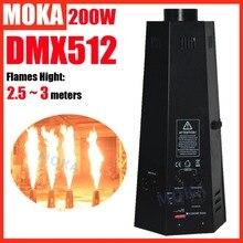 200 W Altı Köşe Alev Makinesi DMX Yangın Makinesi Sahne Efekt Ekipmanları Alev Ateş Makinesi Profesyonel Sahne & DJ