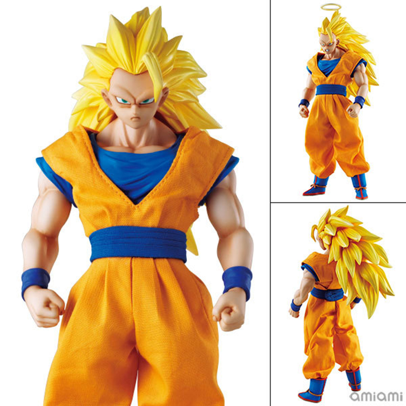 цены MegaHouse DOD Dragon Ball Z Son Goku PVC Action Figure 21CM DOD Super Saiyan 3 Goku Collectible Model Toy Figuarts DBZ Figuras