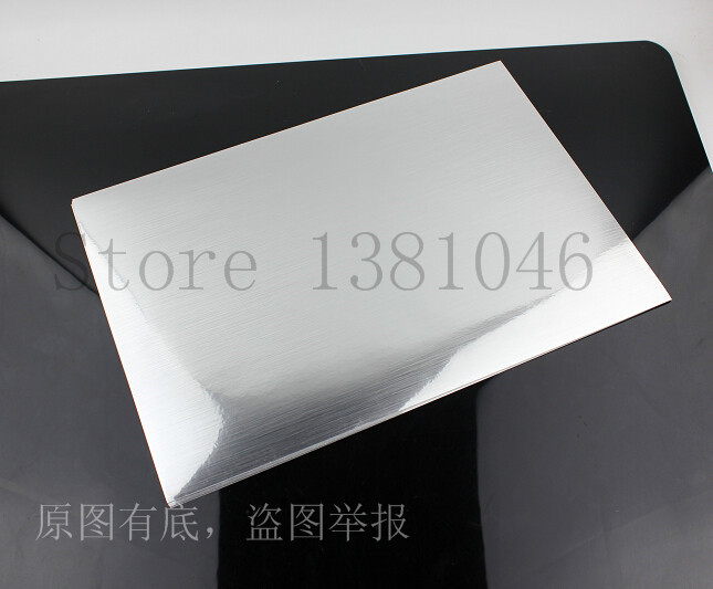 A4 Glossy Silver Vinyl Self Adhesive Printable Film Label Tag Sticker For Laser Printer 2 to 50 Sheets a4 light brown kraft paper printable matt self adhesive sticky label for inkjet printer 2 to 20 sheets