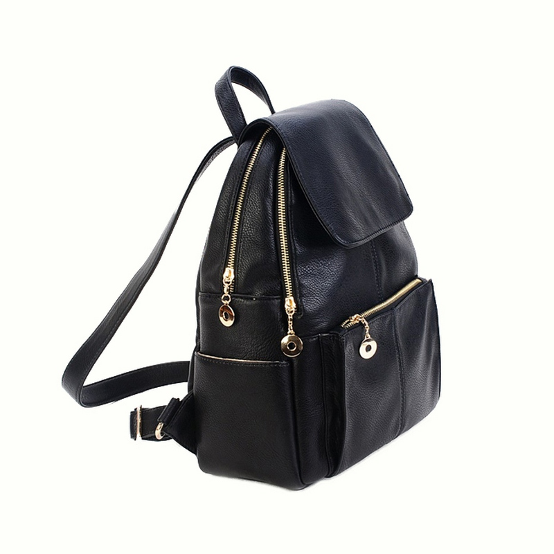 SMINICA Women Backpacks for teenage girls black PU Leather Shoulder Women Bags Female Fashion Travel Bagpack Rucksacks Brand