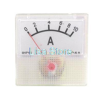 Квадратный Форма ток Тесты DC Амперметр Панель метр колеи 0-10A 91C16