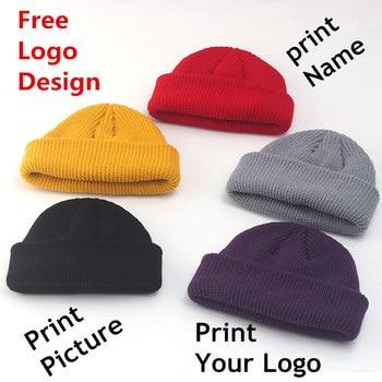 45Pcs  Free Custom LOGO Design Winter Beanie Hats Fashion Warm Cap Unisex Elasticity Knit Beanie Hats