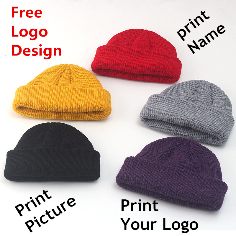 Factory price! Free Custom LOGO Design Winter   Beanie   Hats Fashion Warm Cap Unisex Elasticity Knit   Beanie   Hats