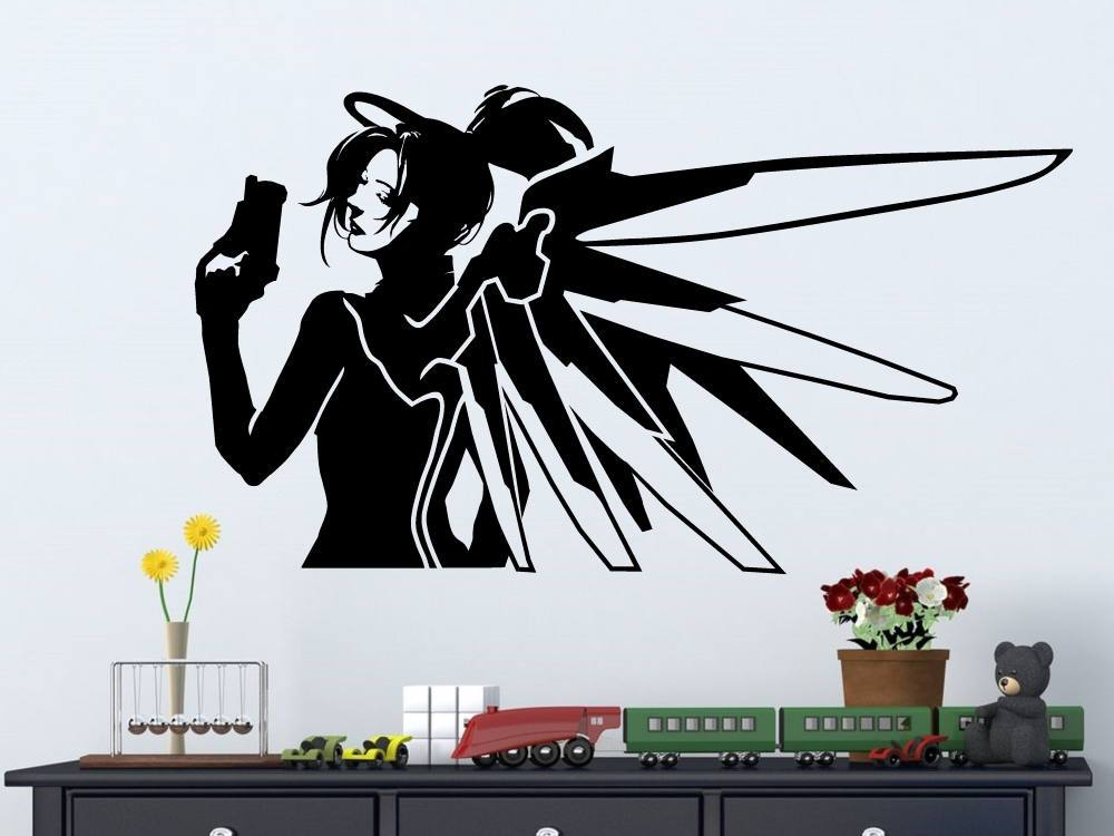 Superhero watcher compassionate vinyl beautiful wall decal girl room fashion  living decoration CJY28