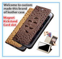 TZ08 Magnet genuine leather kickstand flip case cover with card slots for Samsung Galaxy J7 2017 EU Version phone case