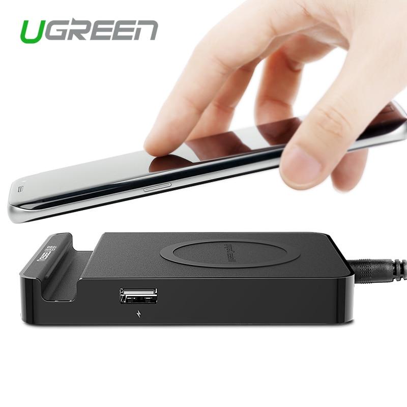 font b Ugreen b font Original Qi Wireless Charger Charging Pad with Dual USB Charging