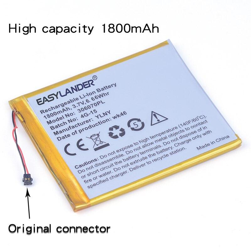 306070PL 3.7 v 1800 mah Rechargeable li Polymère Batterie Pour PocketBook 626 615 De Base Tactile 2 E-BOOK 4G-15 4K-19 306070 036070