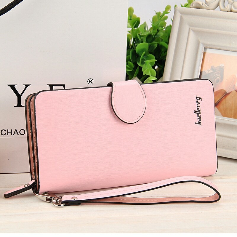 Hot Sale Hasp Wallets Women Solid Color Purse Woman Wallet Long Coin purses Female Purse Card Holder Clutch Feminina Carteira