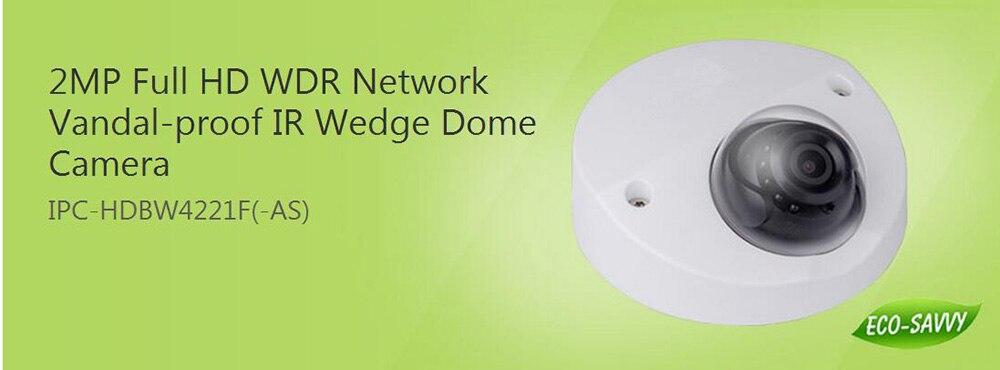 DAHUA 2MP WDR Network Vandalproof IR Wedge Dome Camera IP67 Original English Version without Logo IPC