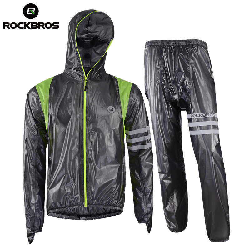 ROCKBROS Cycling Sets Waterproof Anti Sweat Windproof Quick Dry Motocross Raincoat Men mtb Bike Bicycle Breathable Cycling Sets