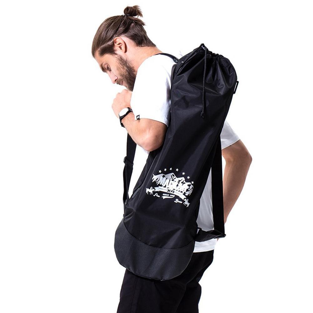 Mochila negra ajustable de Longboard para monopatín, bolsa de transporte, tablero de baile, tablero de deriva, Longboard de viaje, mochila con cordón