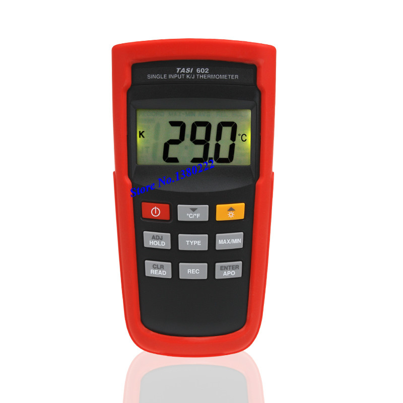 Highly accurate single channel thermometer TASI-602 K/J type thermocouple thermometer digital contact thermometer -100 to 1372 C