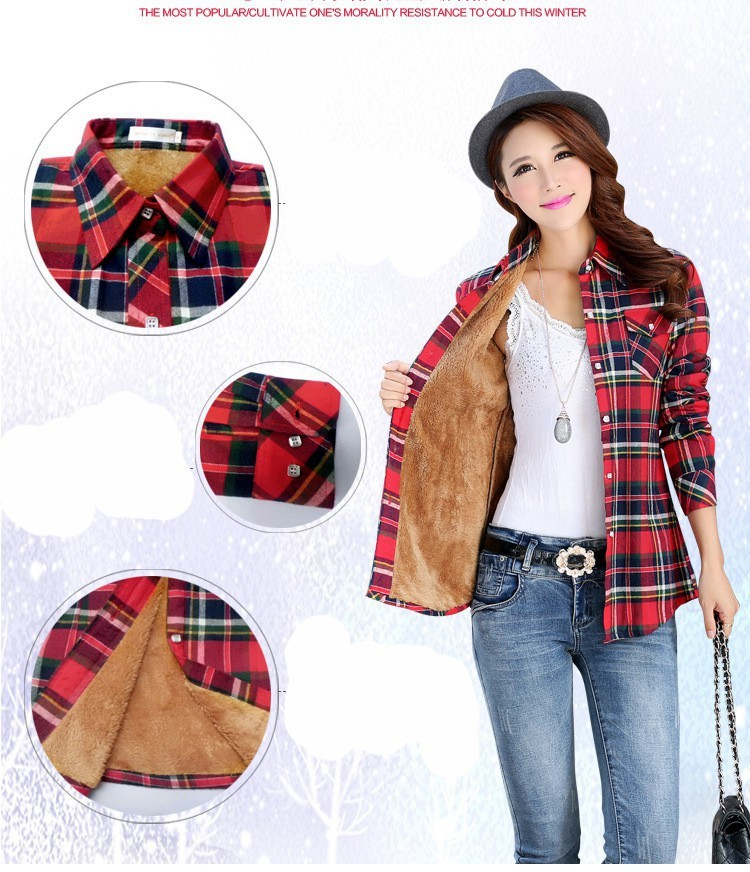 1aae0be4d873 2016 Warm Winter New Hot Fashion Multicolor Women Tops Shirts jacket ...