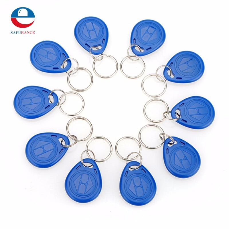 купить 10pcs 125kHz RFID Proximity ID Token Tag Key Keyfobs Keychain Chain Plastic For Access System по цене 147.57 рублей