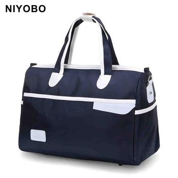See More New Fashion Nylon Waterproof Travel Duffle Bags Men Women Hand Luggage  Travel Totes Bags PT978 547034ae6e3dc