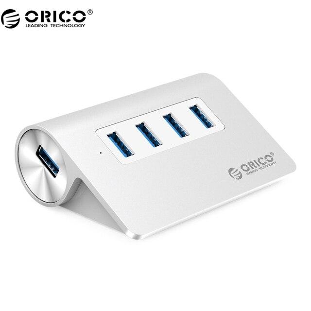 ORICO Новый Дизайн Mac Mini Высокое Качество Алюминия Высокой Скорости 4 Порта USB 3.0 ХАБ-Серебро (M3H4-V1-SV)