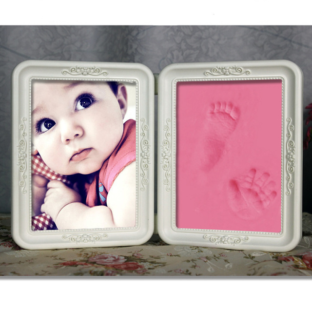 Cute Newborn Baby Meaningful Photo Frame Unique Soft Clay DIY ...