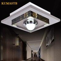 الحديثة ساحة الفولاذ المقاوم للصدأ السقف مصابيح غرفة المعيشة مصباح LED كريستالي للسقف ضوء غرفة نوم الممر الممر شرفة مصباح|أضواء السقف|مصابيح وإضاءات -