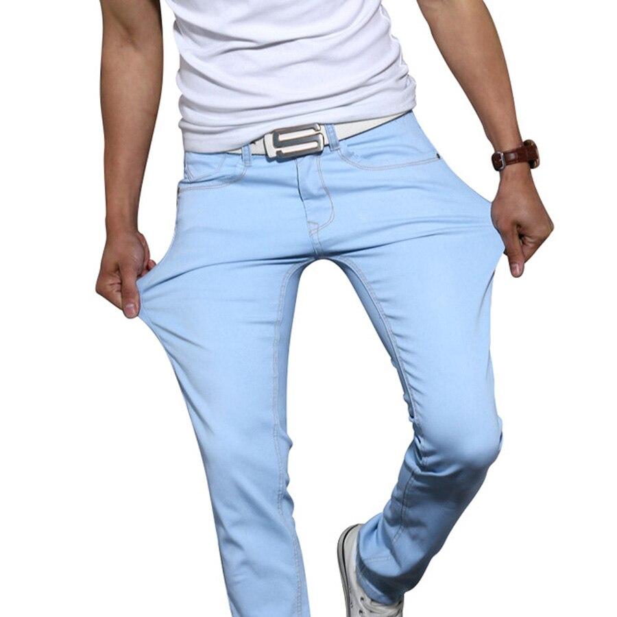 2017 Fashion Stretch Skinny Jeans Pants Men Casual Tights Jogger Trousers  Cotton Straight Slim Mens Jeans - Popular Khaki Skinny Jeans For Men-Buy Cheap Khaki Skinny Jeans