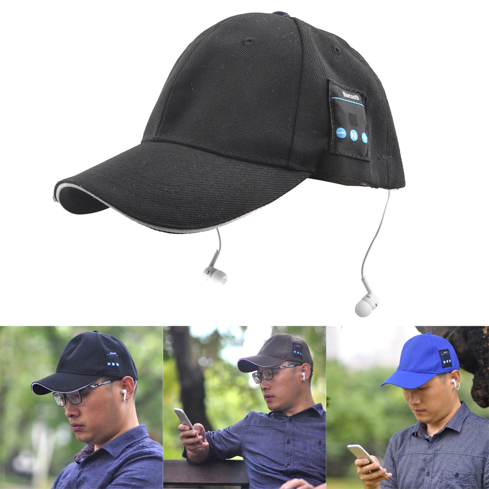 Unisex Bluetooth Hat Summer Sport Headset Handfree Wireless Baseball Music Cap Sun Hat with mic warm bluetooth hat knitted winter beanie hats music upgrade bluetooth 4 0 speaker sport women men bluetooth headset christmas