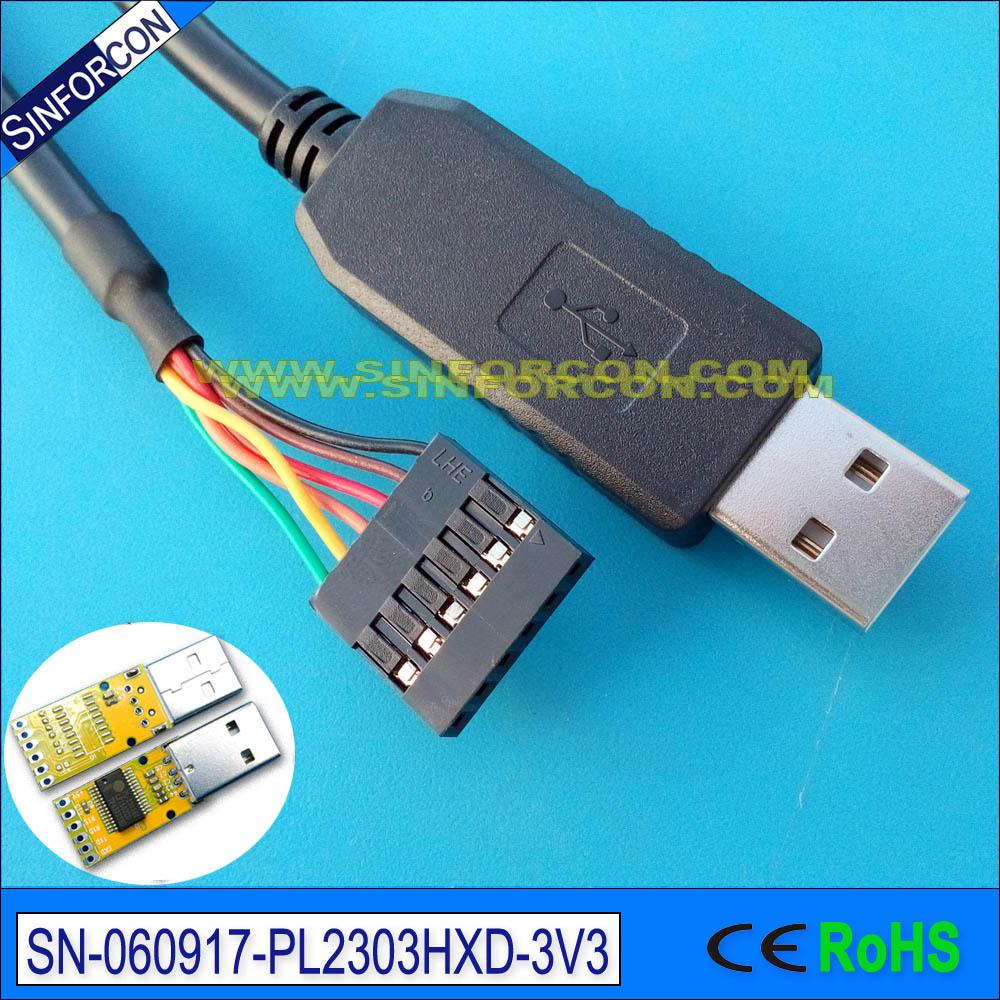pl2303hxd usb seriële uart ttl-kabel met 0.1 du pont female socket - Computer kabels en connectoren - Foto 2