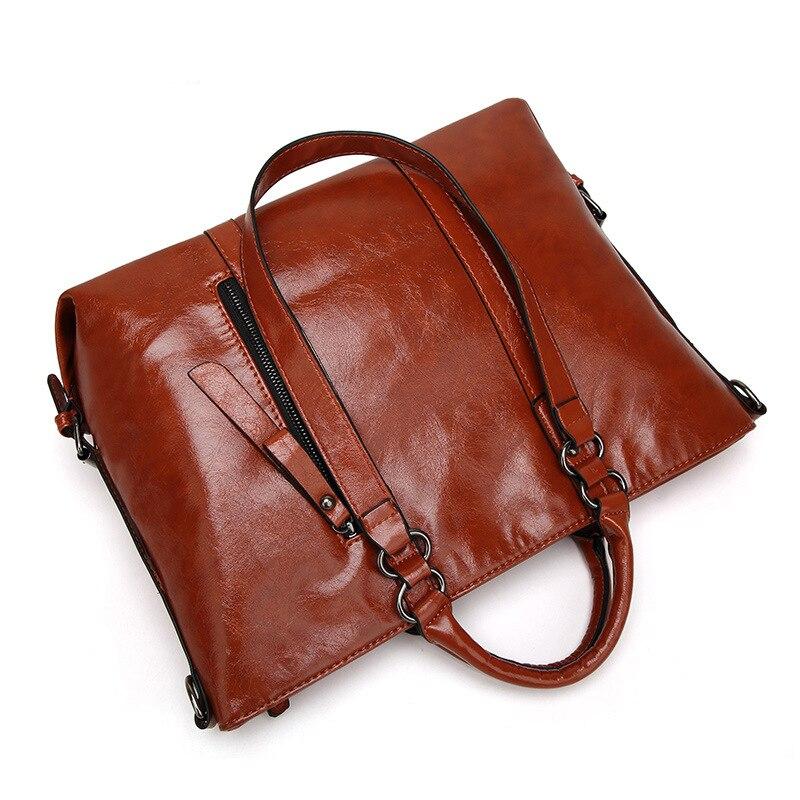 Aotian 새로운 2019 디자이너 핸드백 고품질 어깨 가방 숙녀 핸드백 패션 암소 가죽 여성 가방 갈색 색상-에서탑 핸드백부터 수화물 & 가방 의  그룹 2