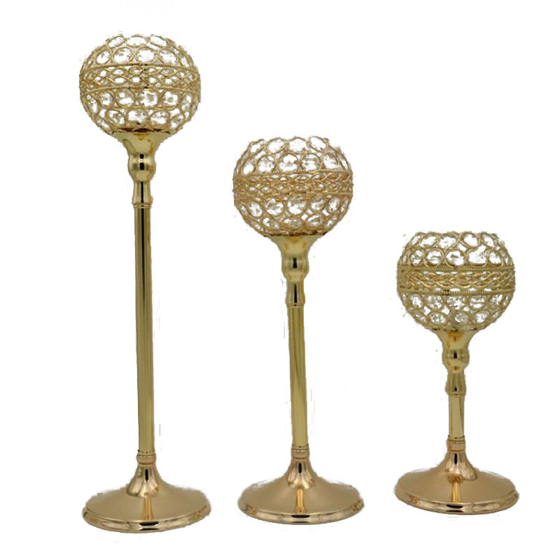 Gold-plated Iron Europe Candlestick Candle Holder Wedding Decorations Cabdle Stand Festive Hotel Table Decor Candelabra Light