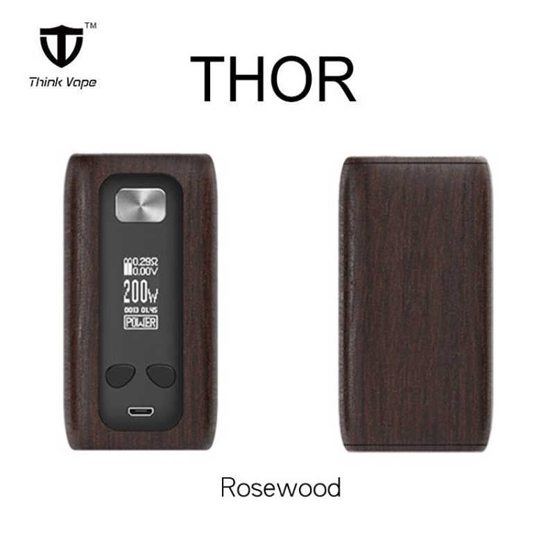 Original Thinkvape Thor 200W MOD dual 18650 VW/TC/Bypass modes TFT screen think vape thor mod VS rincoe manto s