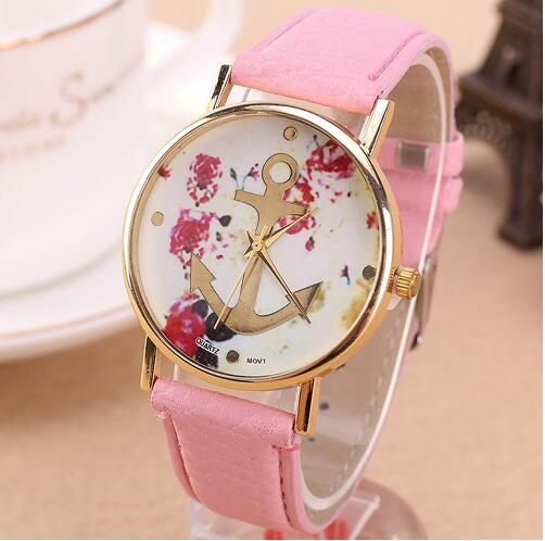 Glod case font b watch b font the trend of female waterproof strap leather ladies font