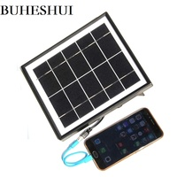 BUHESHUI 5V 5W Solar Panel Charger USB Travel Battery Charger For Mobile Phone/ Power Bank Monocrystalline Free Shipping