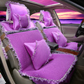 Queen automobile cushion series Women's cute cartoon lace cloth car seat covers new auto interior accessories GFHT