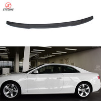A5 Coupe Spoiler wing V Style For Audi A5 Carbon Fiber rear trunk spoiler Styling 2010 2011 2012 2013 2014 2015 2016