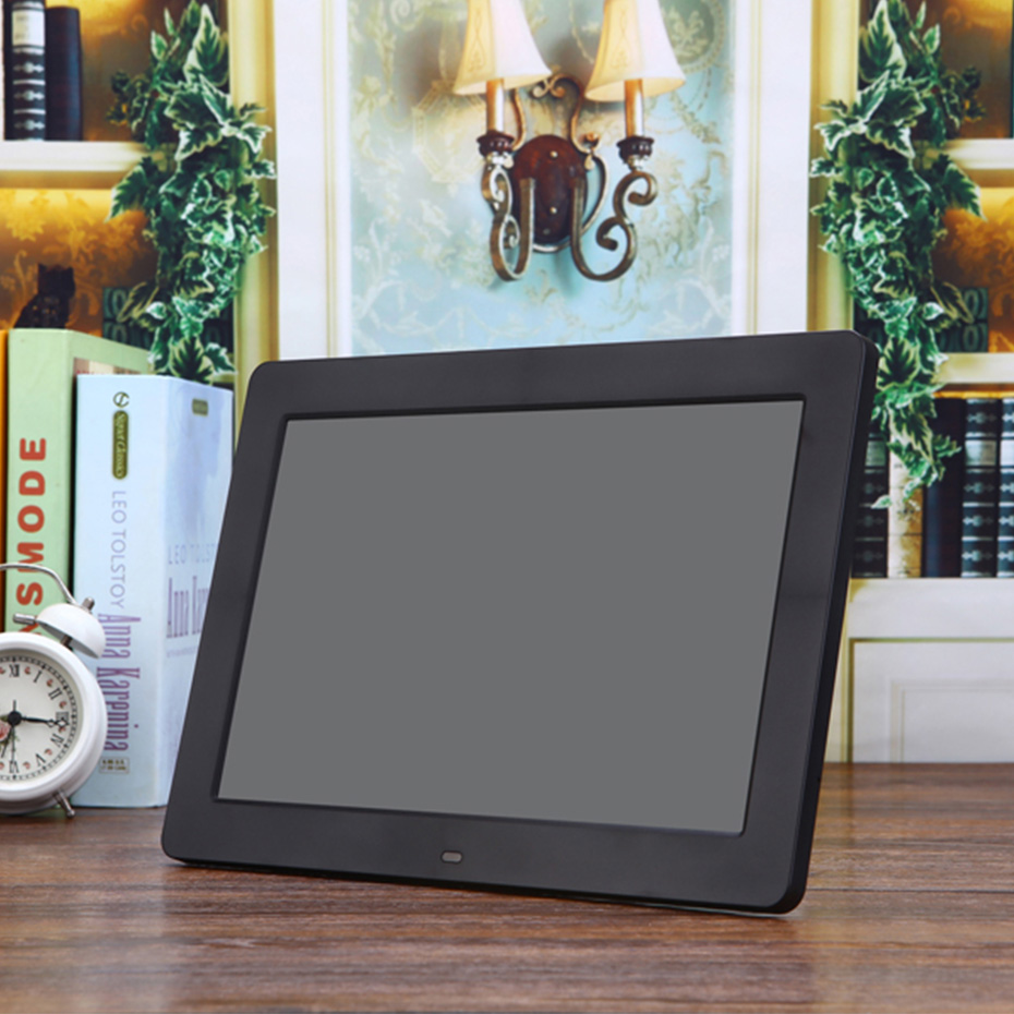 12 inch Digital Photo Frame LED Backlight HD 1024*600 Electronic Photo Frame Electronic Album Picture Video Music MP3 MP4