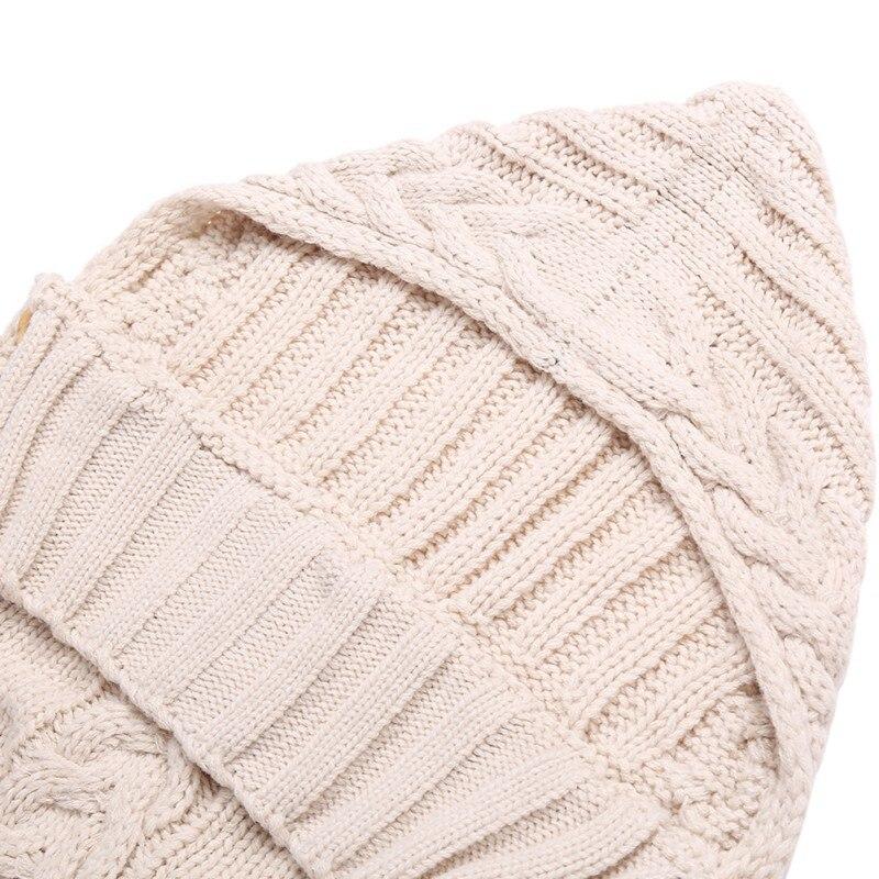 Newborn Baby Wrap Swaddle Blanket Wool Knit Blanket Swaddle Baby