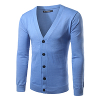 2016 Fashion Autumn Mens Sweaters Male V Neck Spring Cardigan Men Knitwear Sweater Slim Casual Sweater