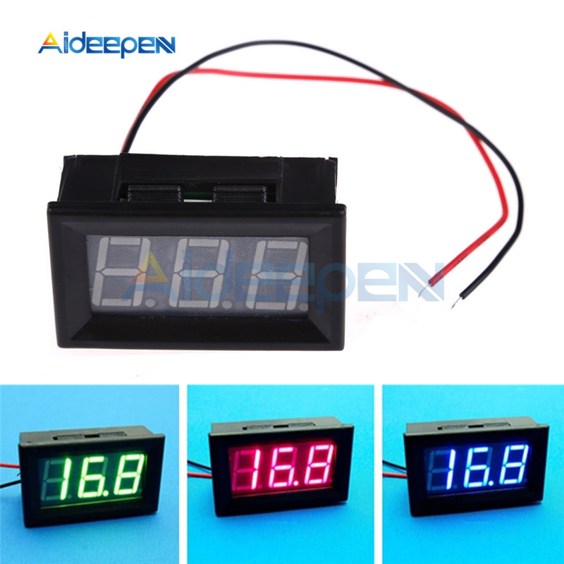 0.56 Inch Led Digital Voltmeter Dc 5v-120v Digital Voltmeter Voltage Panel Meter For 12v 24v 96v Electromobile Motorcycle Tester To Produce An Effect Toward Clear Vision
