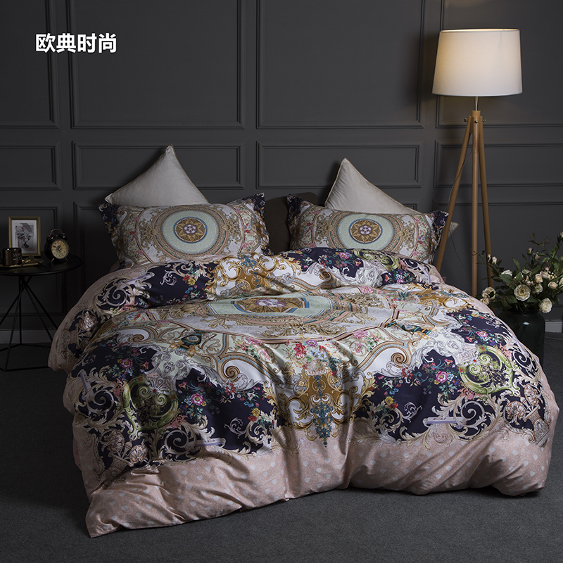 Egyptian Cotton 3D Luxury Bedding Set King Queen Size Bed Set Bohemia Duvet Cover Bed Sheet Set Bedlinen Pillowcase