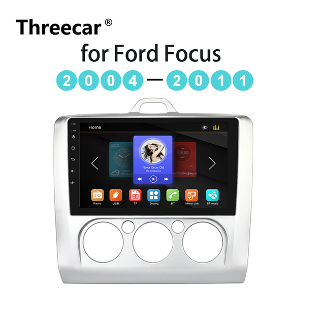 Car Radio Multimedia Player touch screen BT  Mirror Link Android For Ford Focus MT 2004 2005 2006-2008 2009 2010 2011 2 DIN