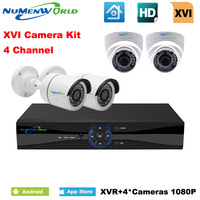 XVI 4CH CCTV System 1080P HDMI AHD CCTV DVR 4PCS 2 0 MP IR Indoor Outdoor