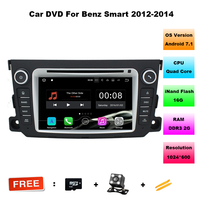 7 Inch HD Quad Core Android 7 11 Car Radio Stereo For Benz SMART 2011 2012