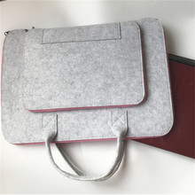 Wool Felt Laptop Sleeve Case 11 12 13 14 15.6 17 Inch Bag for Women Cover Handlebag Briefcase For Macbook Air Pro