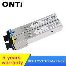 1.25G  BIDI SFP SC Connector Transceiver Module Gigabit Single Mode Fiber Optical Ethernet Compatible with Cisco Switch 5