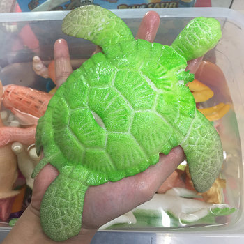 ZHUTOUSAN 1PC duży żółw dorastają w wodzie w kształcie zwierząt kryształ gleby Party Favor dzieci zabawki malowanie rosnące koraliki tanie i dobre opinie ZTST8146