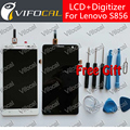 For Lenovo S856 LCD Display + Touch Screen + Tools 100% new Digitizer Assembly Replacement Repair Accessories For Cell Phone