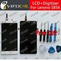Para lenovo s856 display lcd + touch screen + ferramentas 100% nova assembléia digitalizador substituição reparação de acessórios para celular