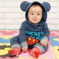 Новый Стиль Микки Маус С Длинными рукавами Хлопок Комбинезон для Новорожденных Ползунки Новорожденный Мальчики Девочки Костюм для Весна Осень