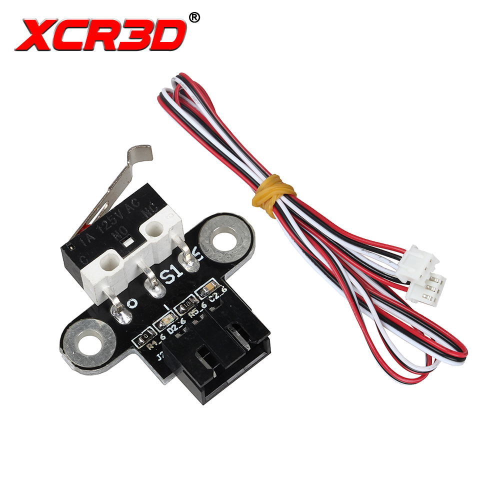 XCR3D 3D Printer Parts Mechanical Limit Switch Module Horizontal Type Endstop With 1M Cable For DIY Motherboard Reprap Ramps1.4 6pcs lot 3d printer mechanical limit switch module endstop v1 2 3d end stop for reprap prusa mendel