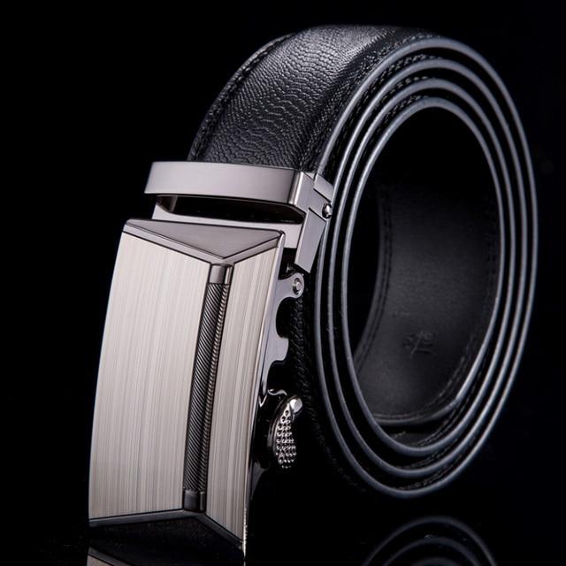 2015 Genuine leather belt men alloy automatic buckle men belts luxury crocodile grain pattern ceinture WN023