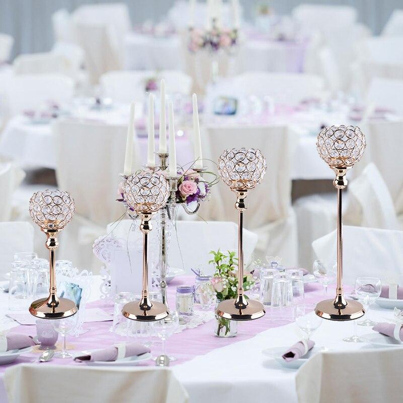 30cm Tall Crystal Candle Holder Lanterns For Wedding Candelabra